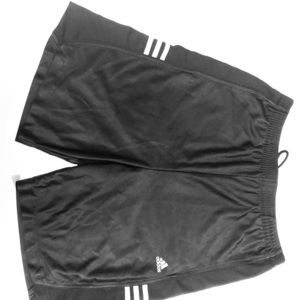 90s ADIDAS metallic black basketball shorts (M)